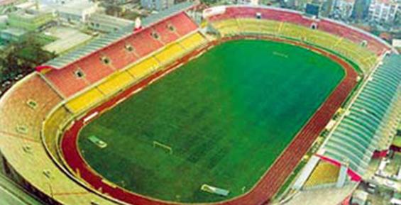 Montering av seter på stadion
